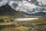 Stunning landscape image of countryside around Llyn Ogwen in Snowdonia during early Autumn - 226170583