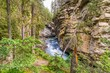 View at the Johnston creek in Johnston Canyon of Banff National Park - Canada