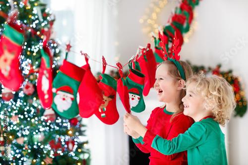 Foto Murales Christmas presents for kids. Advent calendar.