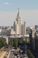The Stalin's skyscraper at Kotelnicheskaya embankment in Moscow