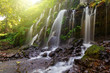 Leinwanddruck Bild - Beautiful Banyu Wana Amertha waterfall in Bali Indonesia.