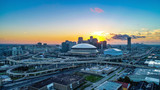 Aerial View of New Orleans, Louisiana, USA Skyline at Sunrise - 226222336