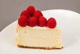 Cheesecake with raspberry