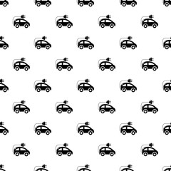 Modern electric car pattern vector seamless repeating for any web design