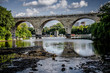 Stone Arch Bridge in downtown Minneapolis Minnesota, as seen from St. Anthony Main