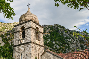 Fragment of the old town of Kotor