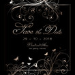 Elegant save the date background design
