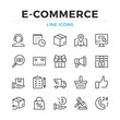 E-commerce line icons set. Modern outline elements, graphic design concepts, simple symbols collection. Vector line icons