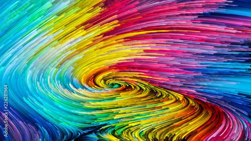 Fale kolorowej farby