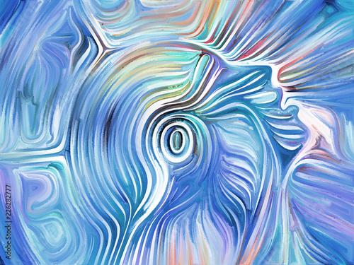 Leinwandbild Motiv Face Paint Abstraction