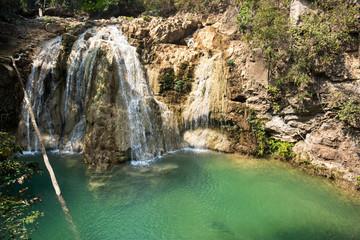 Sador waterfall in lamphun province,Thailand. kor luang waterfall