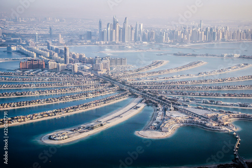Dubai Emirates breathtaking water view from a plane