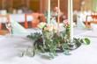 Leinwandbild Motiv romantische Tischdekoration, Retrolook