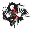 Bleeding man, Victim Of Violence.