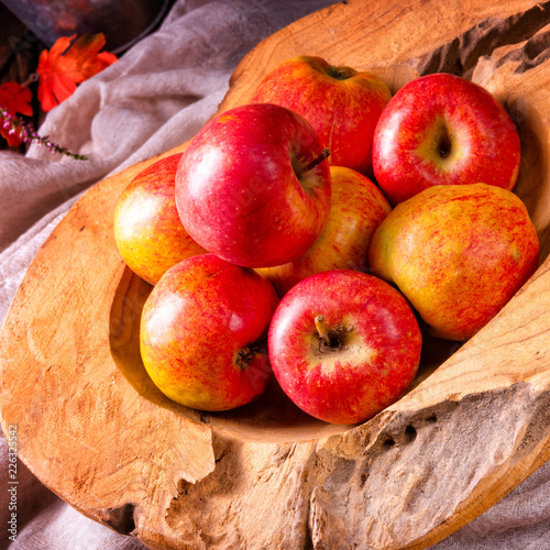 Leinwandbild Motiv Malus sylvestris, the tasty European crab apple,
