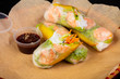Spring roll with prawn