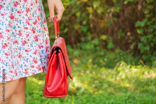 Close shot of red bag - 226331391