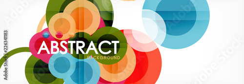Abstract colorful geometric composition - multicolored circle background - 226341183