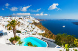 White architecture on Santorini island, Greece. - 226342385