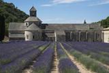 Kloster mit Lavendelfeld