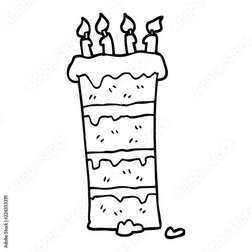 Huge Black And White Cartoon Birthday Cake Buy Photos Ap Images