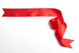 red ribbon banner on white - 226356577