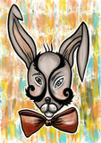 crazy rabbit digital painting