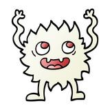 vector gradient illustration cartoon funny furry monster - 226363791