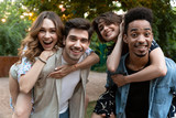 Group of young friends party outdoors in park having fun. - 226368526