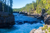 Series of small waterfalls in the Yellowstone River