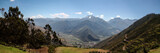 panorama of sacred valley peru near cuzco with inca terrace