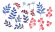 Fantasy leaves. Watercolor hand drawn painting illustration - 226384120