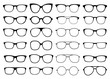 Glasses vector collection. Sunglasses set - 226385999