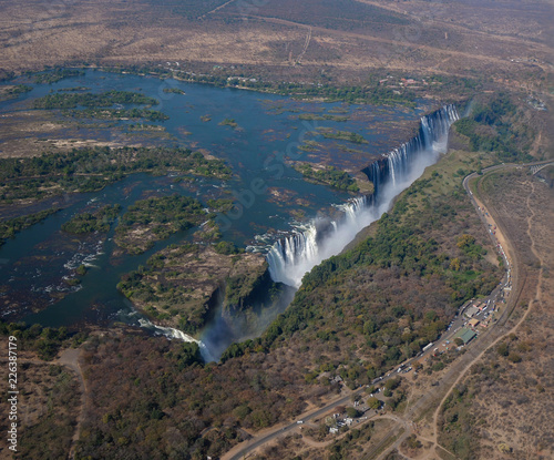 Aerial view of Victoria Falls in Zimbabwe - 226387179