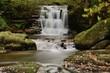 Long exposure of the big waterfall at Watersmeet in Devon - 226396793