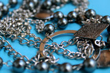 women's jewelry scattered on the table