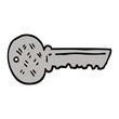 hand drawn doodle style cartoon key
