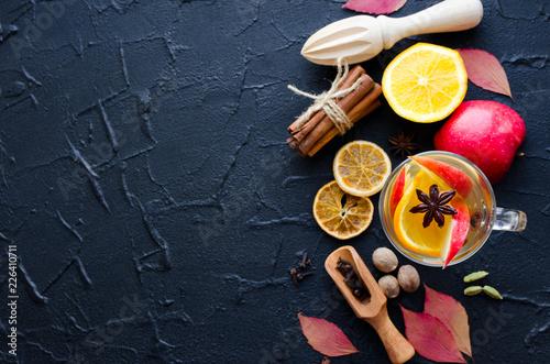 Leinwanddruck Bild Autumn mulled wine