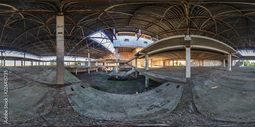 Full spherical seamless 360 degrees angle view panorama concrete