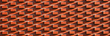 New red brick wall for background or texture. Panorama