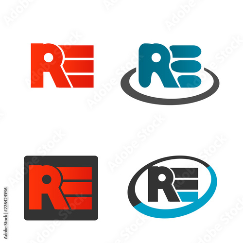 modern letter typographic vector icon