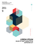 Abstract geometric isometric shape layout design template background - 226428999
