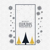 stylish christmas greeting concept design with snowflakes and tree