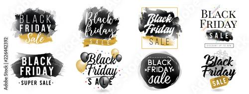 Czarny piątek sprzedaż. Typografia wektor.
