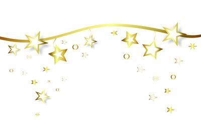 Weihnachten Stern Band Banner Gold Sterne Hintergrund