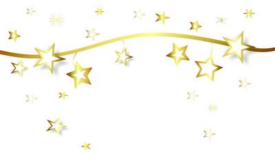 Stern Sterne Star Stars Band Banner Hintergrund Weihnachten Gold
