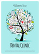Dental clinic tree, sketch for your design