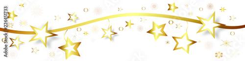 Gold Stern Sterne Star Band Banner Hintergrund Welle Wellen