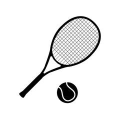 Tennis icon, logo on white background