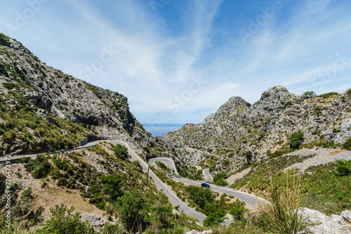Gerbirgsstraße auf Mallorca